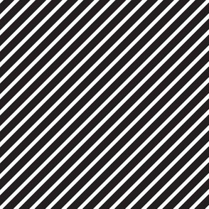 Black & White Diagonal Stripes
