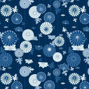 Blue Chrysanthemums small