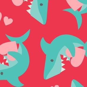 Large Valentine Sharks