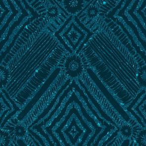 textural diamonds - ocean