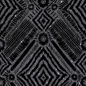 textural diamonds - black + grey