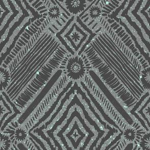 textural diamonds - grey