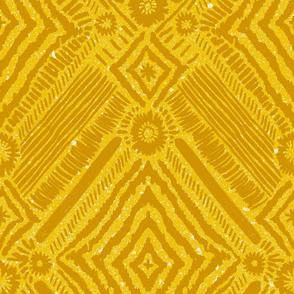 textural diamonds - mustard