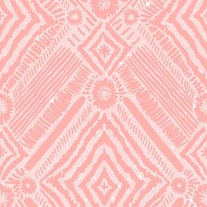 textural diamonds - blush