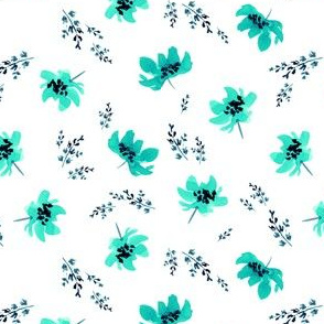 Giacinta Mint Floral