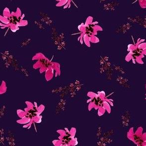Giacinta Pink Floral - Purple