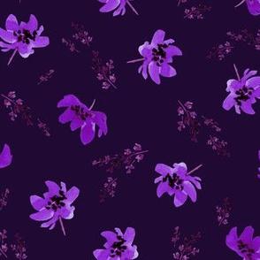 Giacinta Purple Floral - Plum