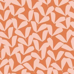 Petite Feuille   Orange + Pink