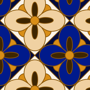 wonderful tile diagonal Cobalt Blue