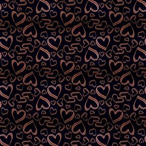 Bronze textured love hearts