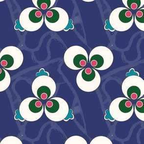 Ottoman Polka Dot - Cobalt (Large)