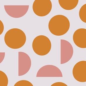 Pink Orange Dots