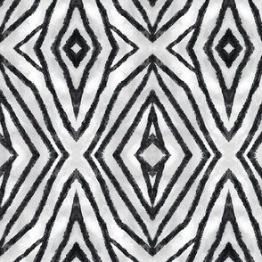 African Tribal shield-black and white