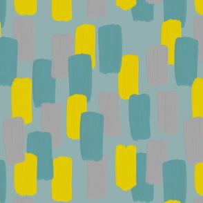 Aqua yellow brush stroke