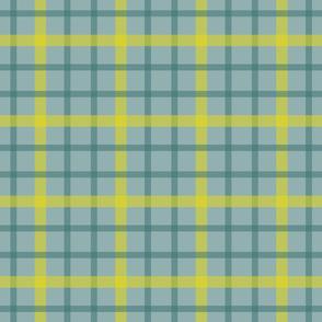 Aqua yellow check