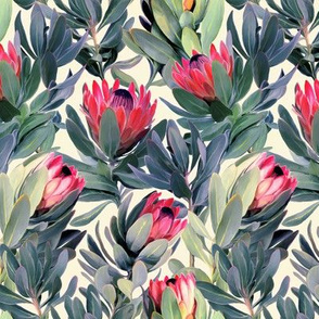 Painted Protea Floral - small print