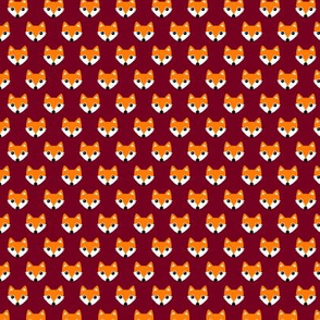 Colorful retro foxes fun kids illustration woodland theme maroon red orange SMALL