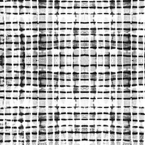 Shibori black dash lines