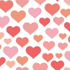 Hearts - Multi Pink