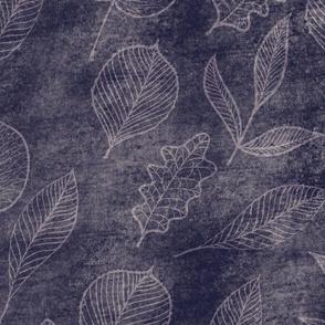 Faux Leaves - blue