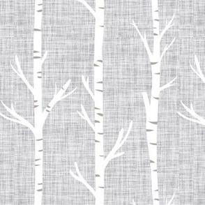 cloud linen birch trees