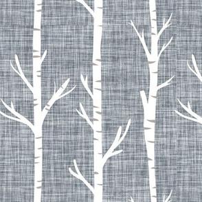 174-4 linen birch trees
