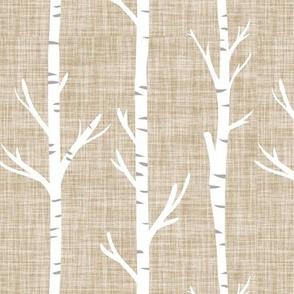 13-2 linen birch trees