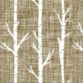 pearwood linen birch trees