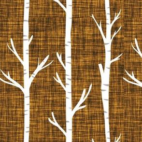 19-16 linen birch trees
