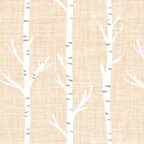 blushy linen birch trees