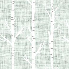 pistachio linen birch trees