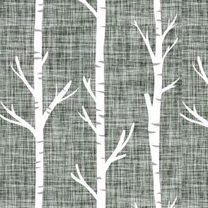 laurel linen birch trees