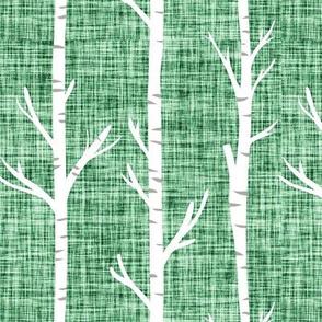 malachite dark linen birch trees