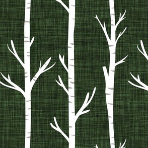 seaweed linen birch trees