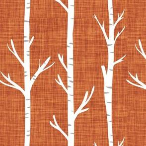 clay linen birch trees