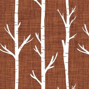 sable linen birch trees