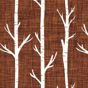 cinnamon linen birch trees