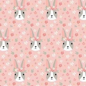 Pink Floral Easter Bunnies