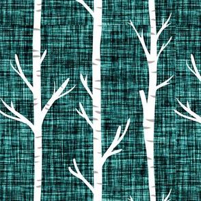 deep sea linen birch trees