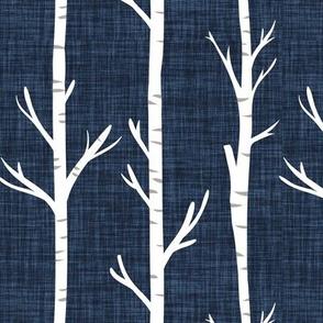 navy no 2 linen birch trees