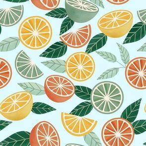 Sweet Citrus (on Light Blue)