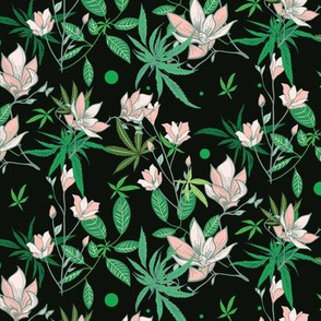 Dark and Ditsy Cannabis Floral