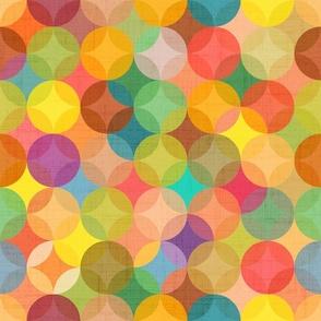Abstract geometric pine green
