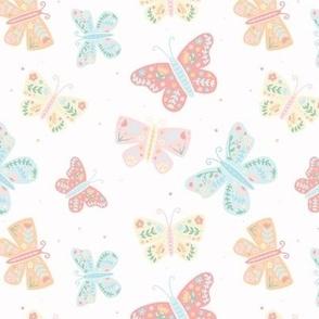 Folk Floral Butterflies