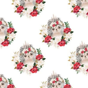 "red rose magnolia hedgehog - 3"" wide"