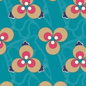 Ottoman Polka Dot - Turquoise (Large)
