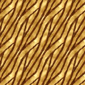 African Animal Skin Stripes-ochre