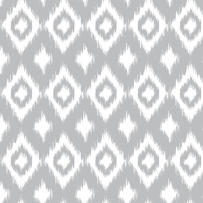 Grey Ikat