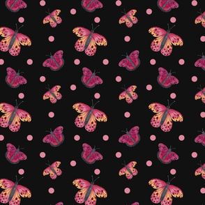 Pink Butterflies Dark