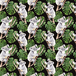 Koala Pattern Dark